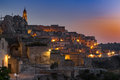 Matera at dusk Royalty Free Stock Photo