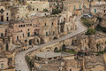 Matera italy a view at houses in the sassi the historic center of the city in basilicata in Royalty Free Stock Photos