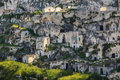 Matera italy a view at houses in the sassi the historic center of the city in basilicata in Stock Photo
