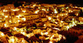 Matera's city at nigth(view) Royalty Free Stock Images