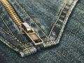 Materia textil de los pantalones vaqueros Imagen de archivo