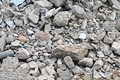 Material concrete and brick rubble debris ruins Royalty Free Stock Photo