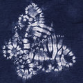 Material dyed batik indigo colour Stock Image