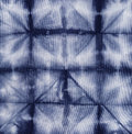 Material dyed batik shibori indigo Royalty Free Stock Photography