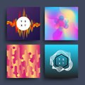 Material, dynamic, motion 2d trendy vector backgrounds