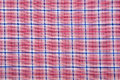 Material into grid a textile background red and blue Royalty Free Stock Photo