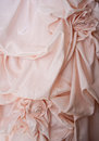 Material rose detail wedding dress image can also be used formal nightgown Stock Images