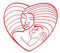 Maternal love Royalty Free Stock Images