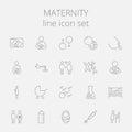 Maternity icon set