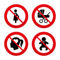 Maternity icons. Baby infant, pregnancy, buggy Royalty Free Stock Photo