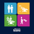 Maternity icons over black background vector illustration Royalty Free Stock Image