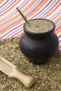 Matero with yerba mate Stock Image
