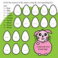 Math count color easter egg illustration rabbit want you and Royalty Free Stock Photo