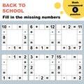 Math crossword puzzles worksheet Royalty Free Stock Photo