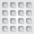 Math financial symbols web buttons Royalty Free Stock Photos