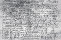 Math formula on grey background Royalty Free Stock Photo