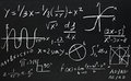 Math formulas Royalty Free Stock Image