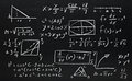 Math formulas Stock Images