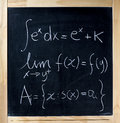 Math Formulas On A Blackboard Royalty Free Stock Photos