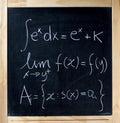 Math Formulas On A Blackboard Royalty Free Stock Photo
