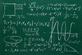 Math formulas on school blackboard education Royalty Free Stock Photography