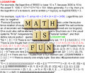 Math is fun abstract with crossword puzzle illustration tile Stock Photos