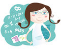 Math girl Royalty Free Stock Photography