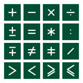 Math Icon Set 2 Stock Image
