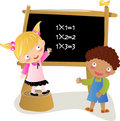 Math kids Royalty Free Stock Images
