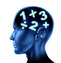 Math mathematics brain calculating mind education Royalty Free Stock Photo