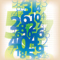 Math number background a colourful abstract flowing with floating numbers Stock Photography