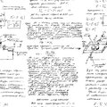 Math seamless pattern with handwriting of various operations Royalty Free Stock Photo
