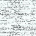 Math seamless pattern handwritten on a grid copybook paper