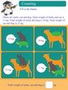 Mathematic calculation kilogram animal