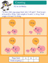 Mathematic calculation kilogram piggy bank illustration design question Stock Photography