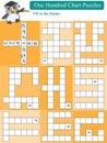 Mathematic one hundred chart puzzles illustration design orange white background Stock Photos