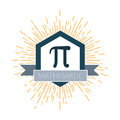 Mathematic Pi icon flat. Vector illustration Royalty Free Stock Photo