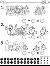 Mathematical activity coloring book Royalty Free Stock Photo