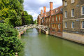 Mathematical bridge at the Queens College Royalty Free Stock Photo