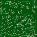 Mathematical equations and formulas Royalty Free Stock Photography