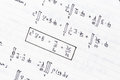 Mathematical equations of heat conduction and thermodynamics Royalty Free Stock Photo