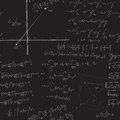 Mathematical seamless pattern with equations and proofs Royalty Free Stock Image
