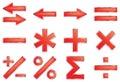 Mathematical symbols. Royalty Free Stock Photo