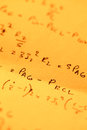 Mathematical text close up of background Royalty Free Stock Photography