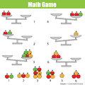 Mathematics educational game for children. balance the scale