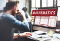 Mathematics equation calculate algebra function concept Royalty Free Stock Images