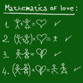 Mathematics of love Royalty Free Stock Images