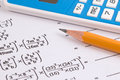 Mathematics, Math Equations close-up. Math homework or math exams. Royalty Free Stock Photo