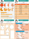 Mathematics set fractions illustration design counting collection Royalty Free Stock Photos