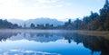 Matheson lake Fox Glacier New Zealand Royalty Free Stock Photo